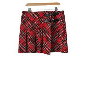 Sinequanone Paris Plaid Pleated Kilt Mini Skirt